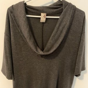 Batwing cowl neck top